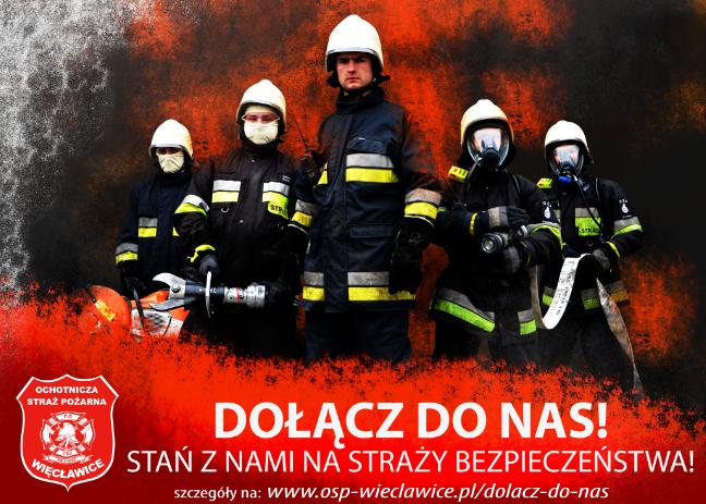Plakat OSP Więcławice - Dołącz do nas!